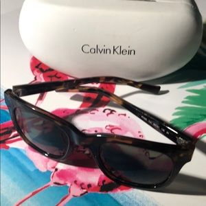 Authentic Calvin Klein sunglasses with case